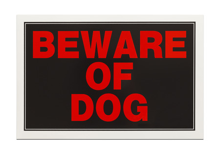 back gate: Plastic Red and Black Sign Isolated on White Background. Stock Photo