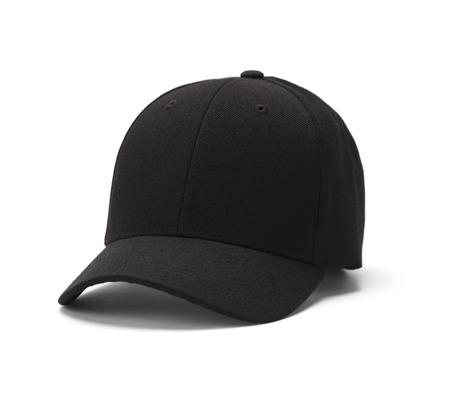 noir: Baseball chapeau isolé sur un fond blanc. Banque d'images