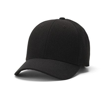 gorro: Sombrero de béisbol aislado en un fondo blanco.