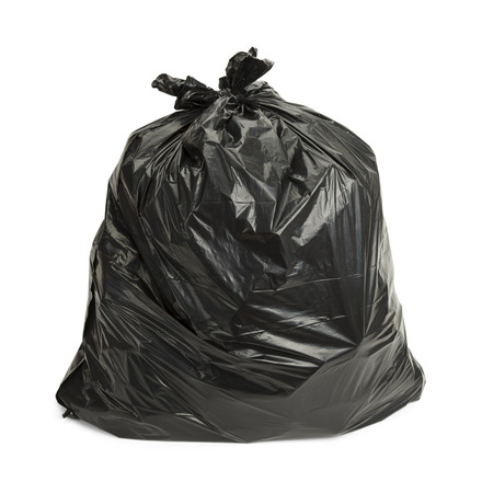 Full Garbage Bag Isolated on White Background.