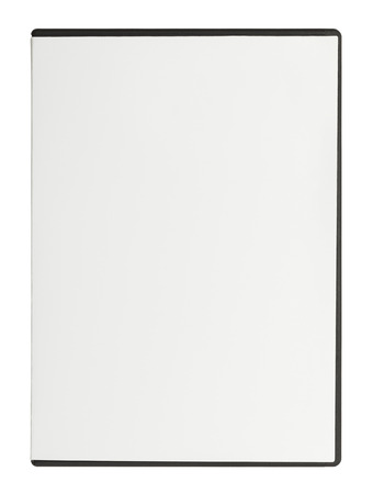 computer case: Closed White DVD Case with Copy Space Isolated on White Background.
