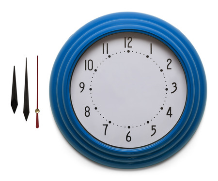 morning blue hour: Adjustable Custom Clock Face Isolated on White Background.