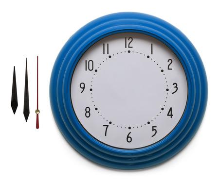 Adjustable Custom Clock Face Isolated on White Background.