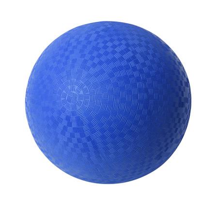Blau Rubber Ball isoliert auf weißem Hintergrund. Standard-Bild - 38260482