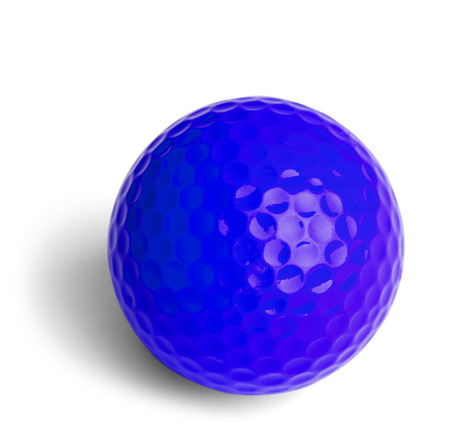 Blue Miniature Golf Ball Isolated On White Background. photo