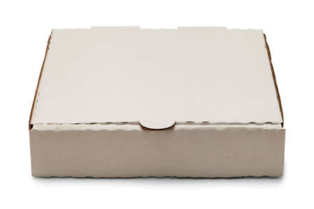 pizza box: Blank White Cardboard Pizza Box Isolated on White Background.