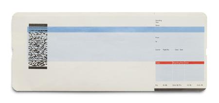 no pase: Azul y blanco tarjeta de embarque Avión aislado en fondo blanco.