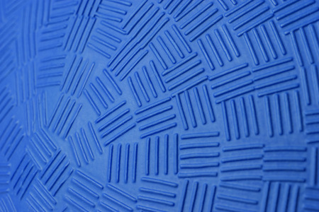 ketch: Pattern Design of Blue Rubber Ball. Stock Photo