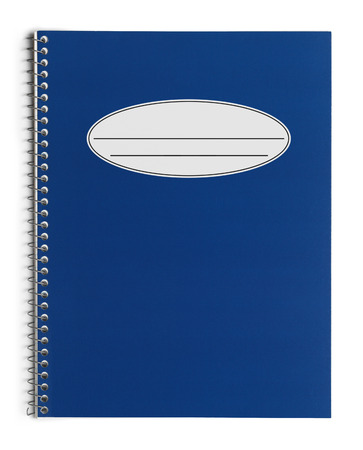 blue spiral: Blue Spiral Test Book Isolated on White Background.