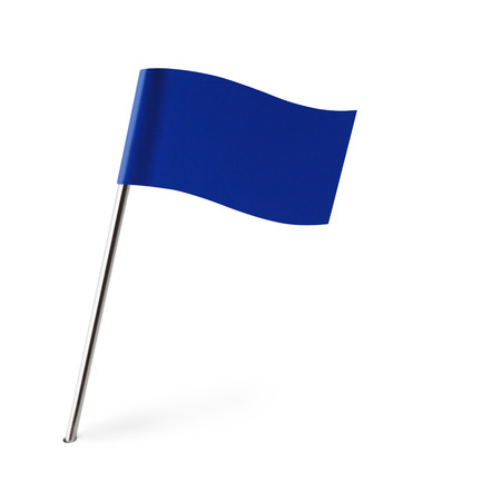 pin entry: Blue Wave Flag Isolated on White Background.