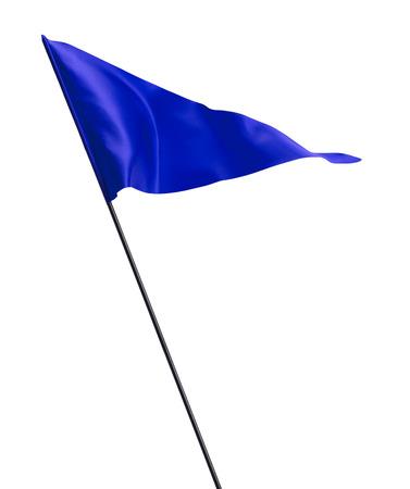 golf drapeau: Tissu Drapeau de golf ondulant dans le vent sur P�le isol� sur fond blanc.