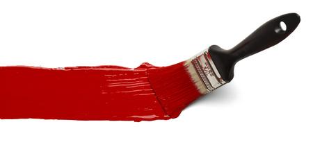 the brush: Pintar Pincelada Across P�gina aislada sobre fondo blanco.