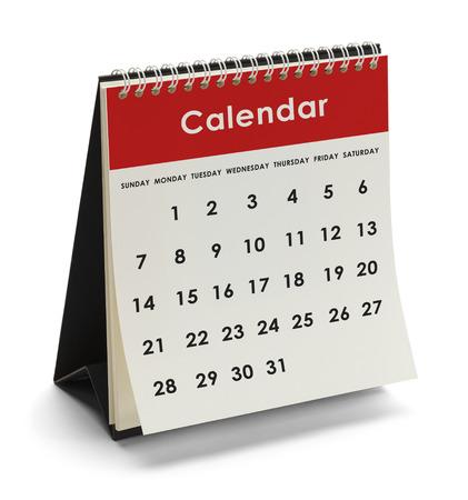 曜日と日付が白い背景で隔離の Genieric カレンダー。 写真素材