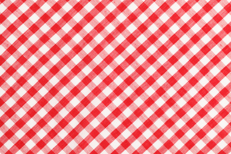 Superieur Red And White Checkered Table Cloth Background. Stock Photo   38259605