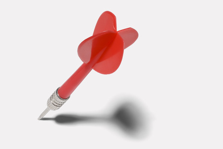 Plastic Red Dart Isolated on White Background. Banque d'images