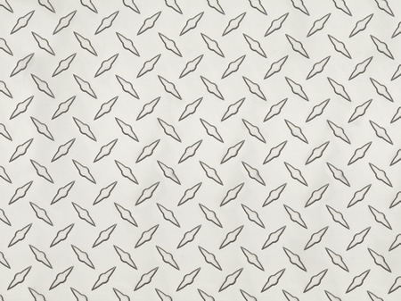 Clean Grey Metal Diamond Tread Pattern Background Texture.