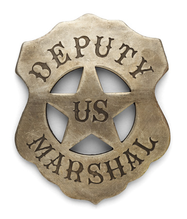 US Sheriff Debuty Marshals Badge Isolated on White Background.