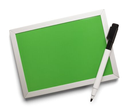 dry erase: Blank Dry Erase Board With Marker Isolated on White Background.