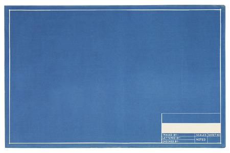 コピー スペースを含む空白青写真プロジェクト ページ。