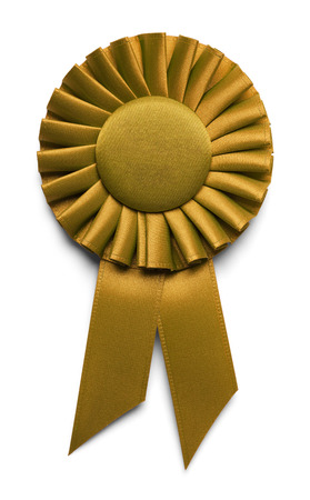 seal stamper: Golden Award Ribbon Isolated on White Background.