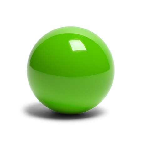 pool ball: Hard Green Pool Ball Isolated on White Background.