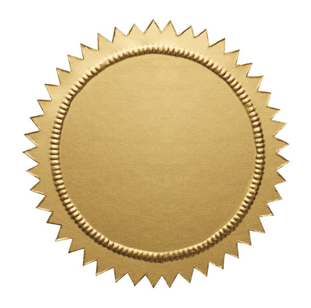 award winning: Empty Notary Seal with Copy Space Isolated on White Background.