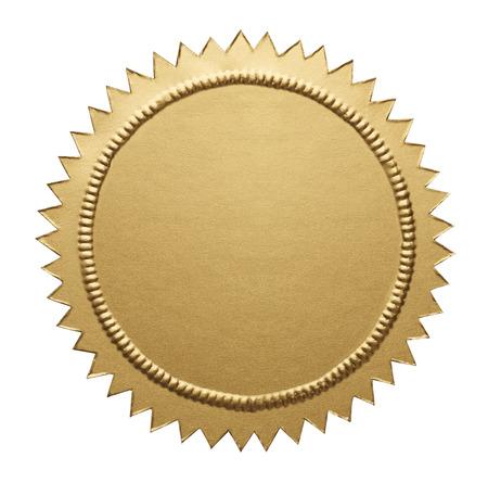 nombre d or: Seal Notaire vide avec Espace texte isolé sur fond blanc.