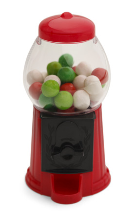 Small Gum Ball Machine Isolated on White Background.