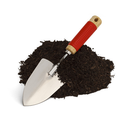dirt pile: Pile of Dirt with Shovel Isolated on White Background.