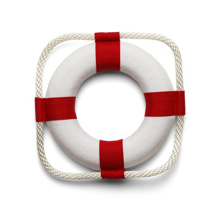 life preserver: Life Preserver Isolated on White Background. Stock Photo
