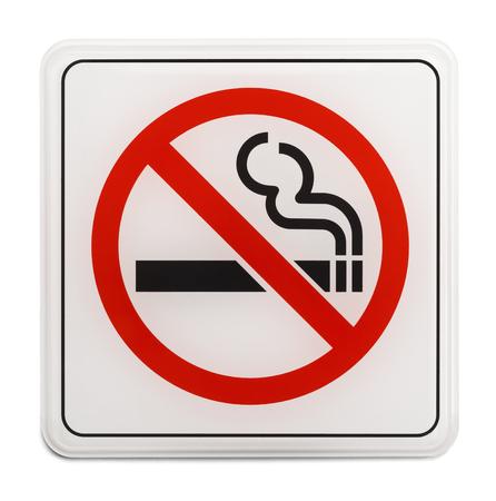 no fumar: La Plaza Roja y Negro Muestra de no fumadores aislada sobre fondo blanco.