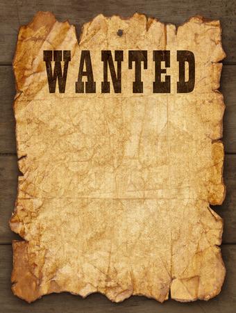 Wanted poster appiccicato legno schede con spazio di copia. Archivio Fotografico - 38249476
