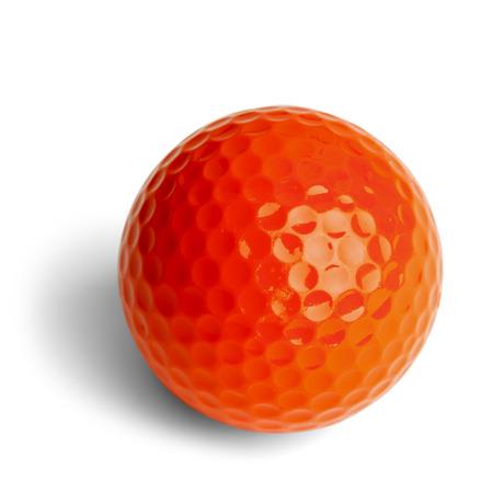 golf  ball: Naranja Miniature Golf pelota aislados sobre fondo blanco. Foto de archivo