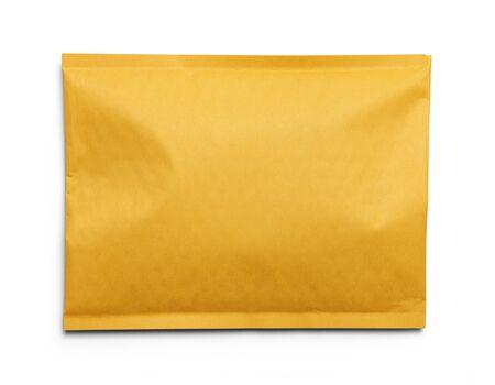padded: Yellow Blank Envelope Isolated on White Background.