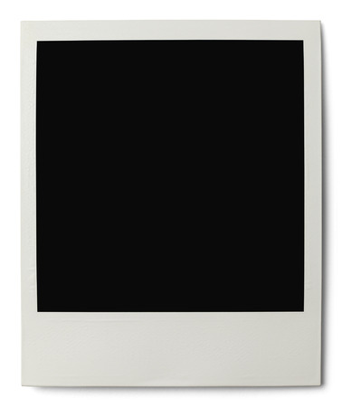 instant film transfer: Polaroid with Copy Space Isolated on White Background.