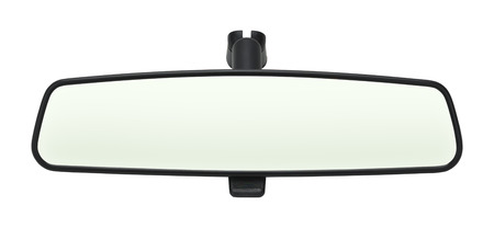 mirror: Car Mirror with Copy Space Isolated on White Background.
