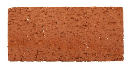 Rectangular Brick From the Top View Isolated on White Background. Imagens