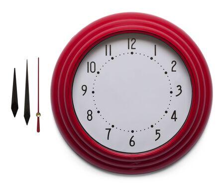 clock: Adjustable Custom Clock Face Isolated on White Background.