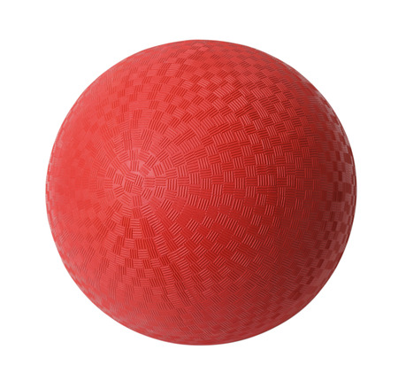 playground equipment: Red Rubber Ball Isolated on White Background.