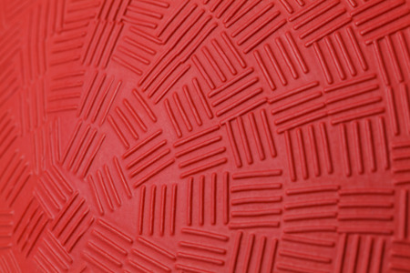 Pattern Design of Red Rubber Ball. photo