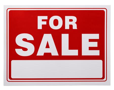Rot und Weiß für den Verkauf mit Kopie Platz auf einem weißen Hintergrund.