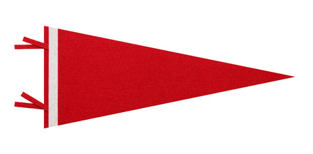 pennant: Felt Penant with Copy Space Isolated on White Background. Stock Photo