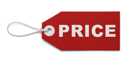 pricetag: Large Price Tag Isolated on White Background. Stock Photo