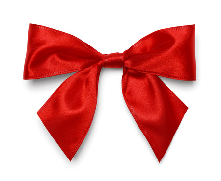 Red Christmas Bow Isolated on White Background. Stok Fotoğraf - 38384656
