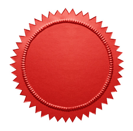 notary: Empty Notary Seal with Copy Space Isolated on White Background.