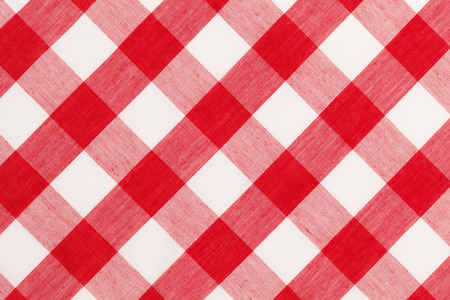 Large Red and White Checkered Table Cloth Background. 版權商用圖片