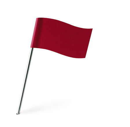 distant spot: Red Wave Flag Isolated on White Background.