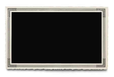 Old Blank Photo Isolated on White Background. photo