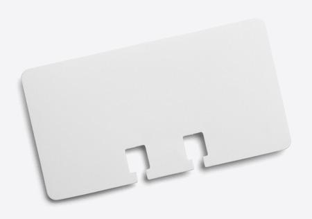 directorio telefonico: Tarjeta en blanco Directorio Buisness aisladas sobre fondo blanco.