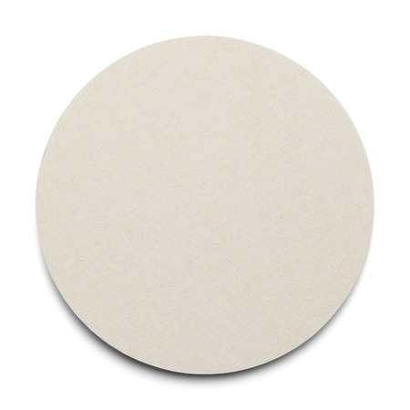 Round Cardboard Coaster with Copy Space Isolated on White Background.